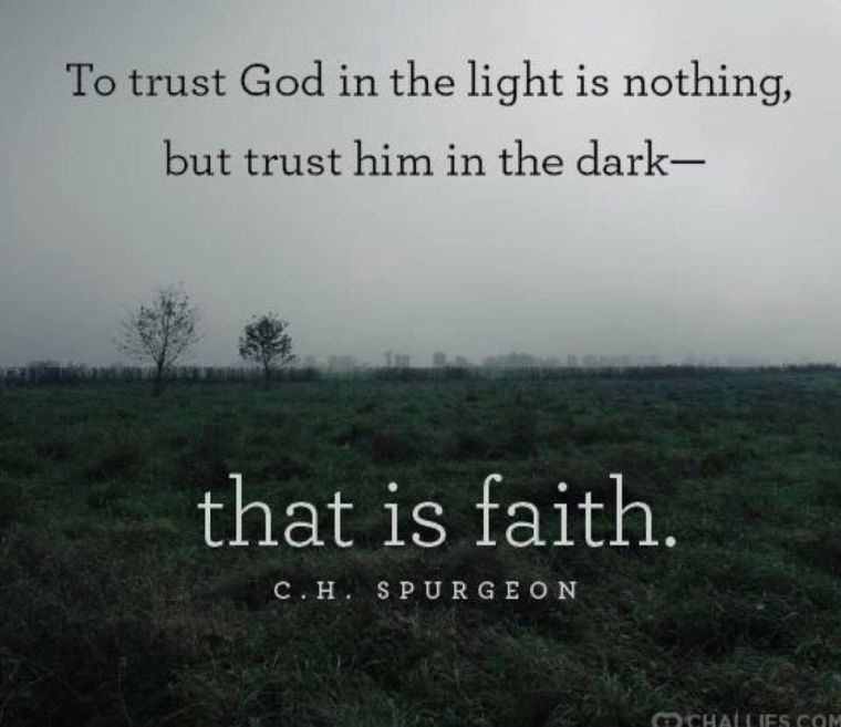 Trusting in God, allows the light of understanding to glow.