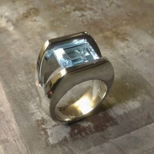 minimalist ring with large stone