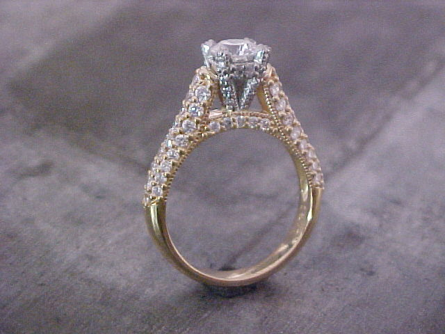 multi stone engagement ring