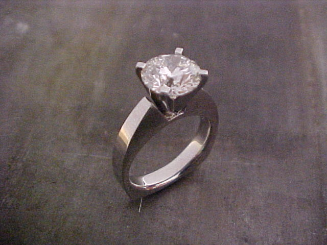 custom engagement ring with very large center diamond