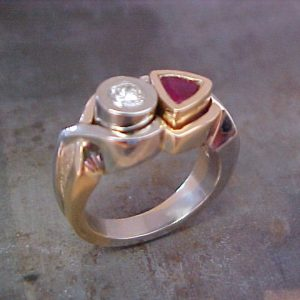 custom ring with rubies and diamonds