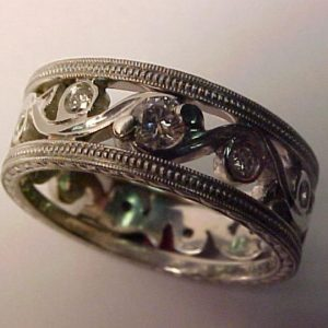 platinum vine wedding band