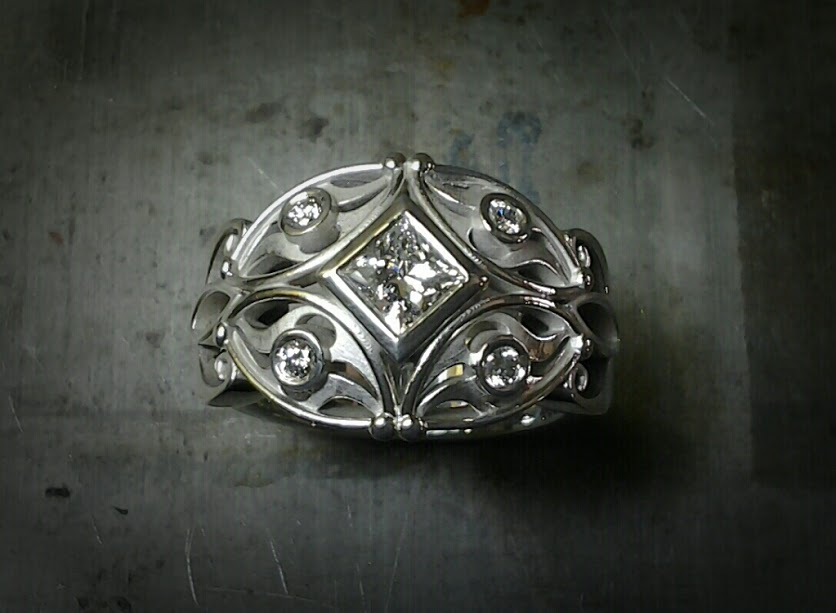 art deco ring, vintage