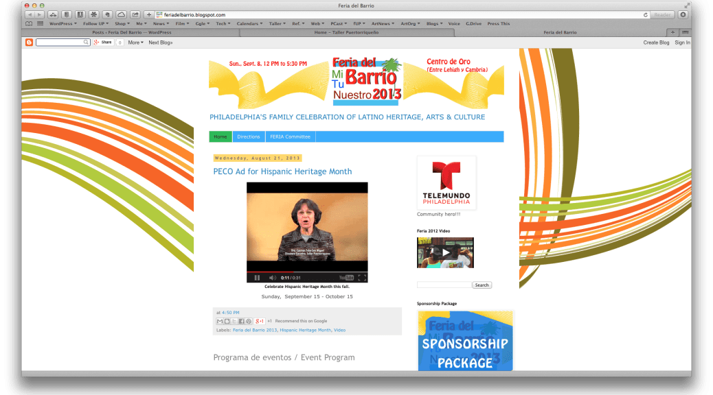 Old Feria website