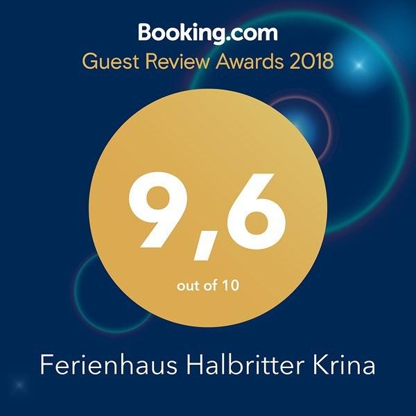Für die tollen Bewertungen des neuen Ferienobjekts in Krina danken wir unseren Gästen sehr herzlich . Wir arbeiten gerne weiter daran, dass Ihr Euch bei uns wohl fühlt 😀, danke für Anregungen und Verbesserungsvorschläge 🏼 #muldestausee #ferienhaushalbritter #ferienhauskrina #krina #dübenerheide #booking #bookingaward #bookingawards #bookingawards2018 #GuestsLoveUs