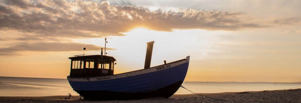 Fischerboot, Strand, Heringsdorf