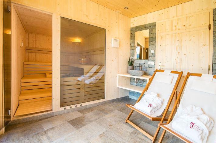 Sauna im Roter Hahn, Ferienresidenz, Südtirol © Thomas Grüner