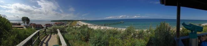 Blick vom Schmiedeberg auf Ostsee und Salzhaff