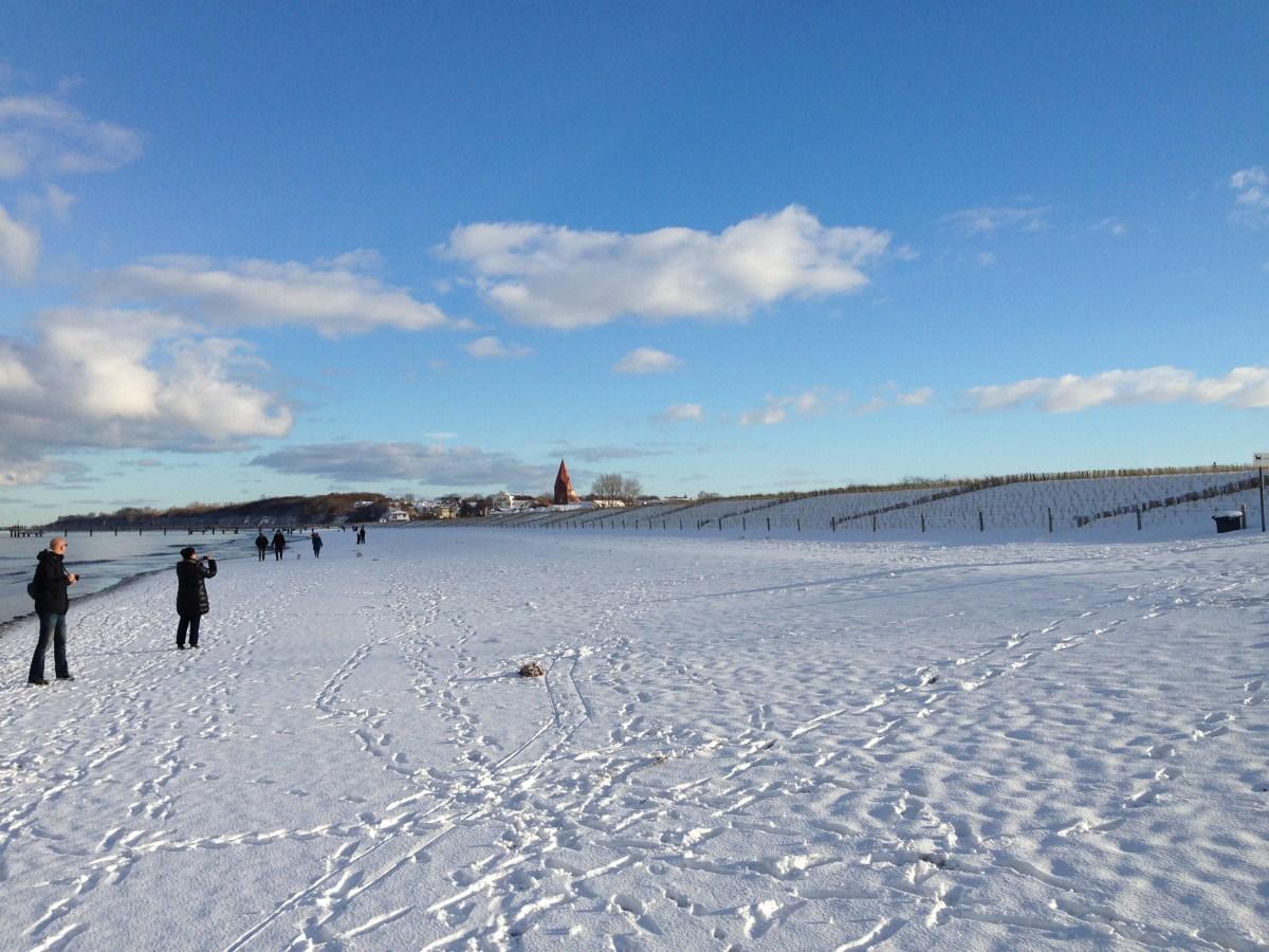Verschneiter Strand Rerik