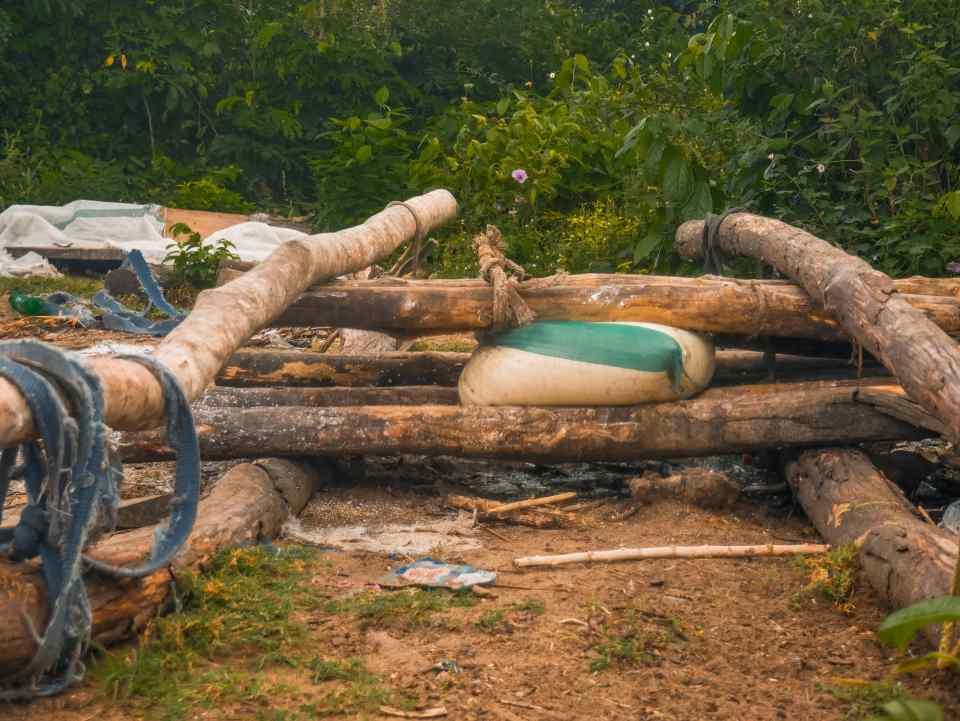 Garri drying process, Ibaoloja Community