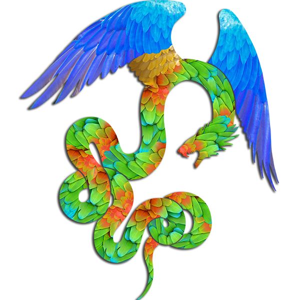 Aztec Angel Silhouette - Feathered Serpent