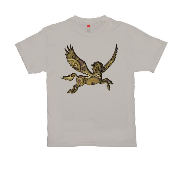 Clockwork Pegasus T-shirt - stone