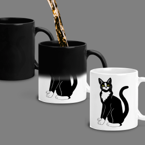 Color Changing Mug – Tuxedo Cat