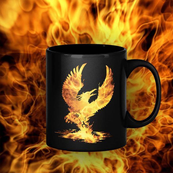 Phoenix 11oz black mug