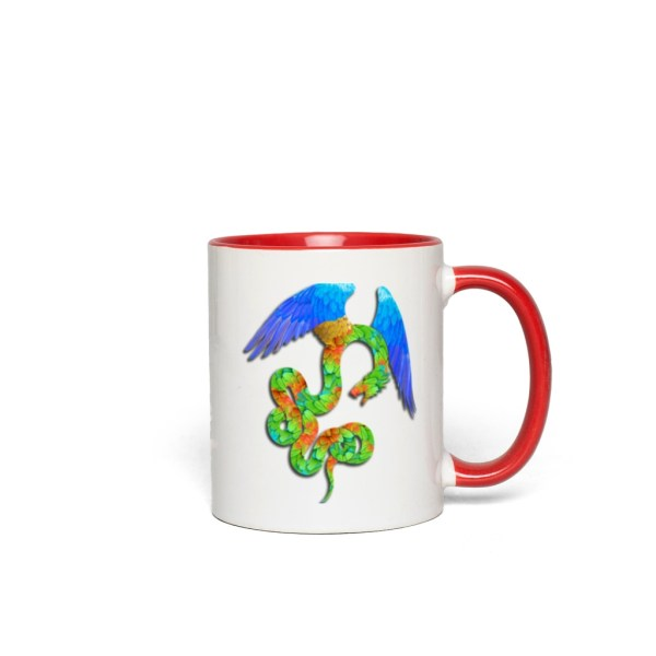 Aztec Angel Accent Mug - red
