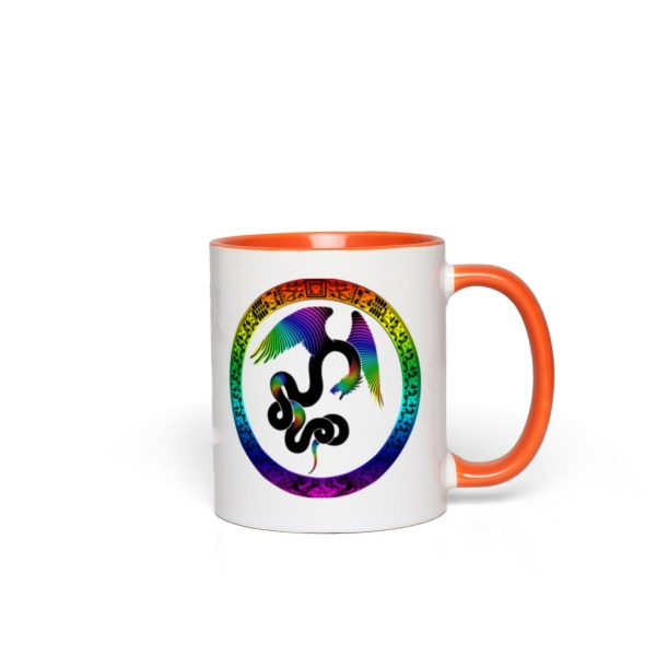 Aztec Dreams Accent Mug - orange