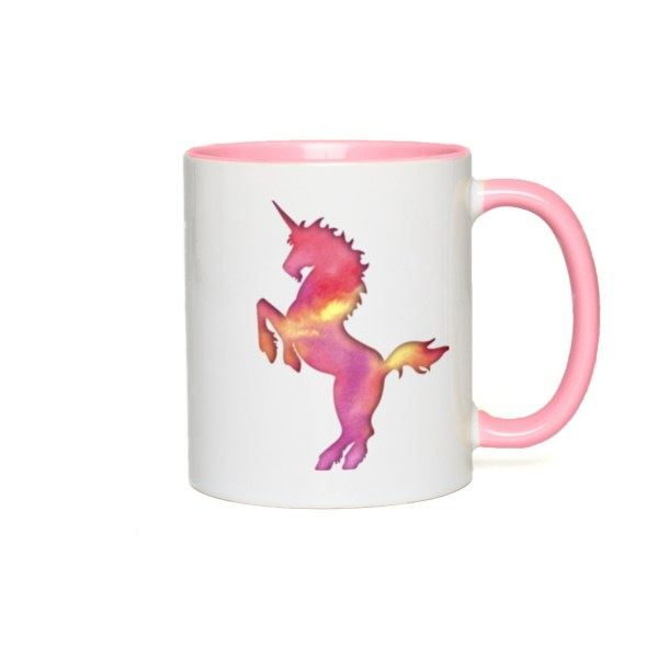 Cotton Candy Unicorn Accent Mug - pink accents