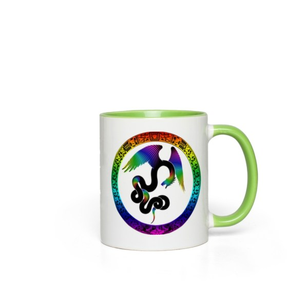 Aztec Dreams Accent Mug - green