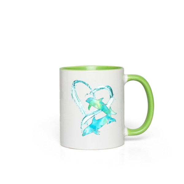 I Love Dolphins Accent Mug