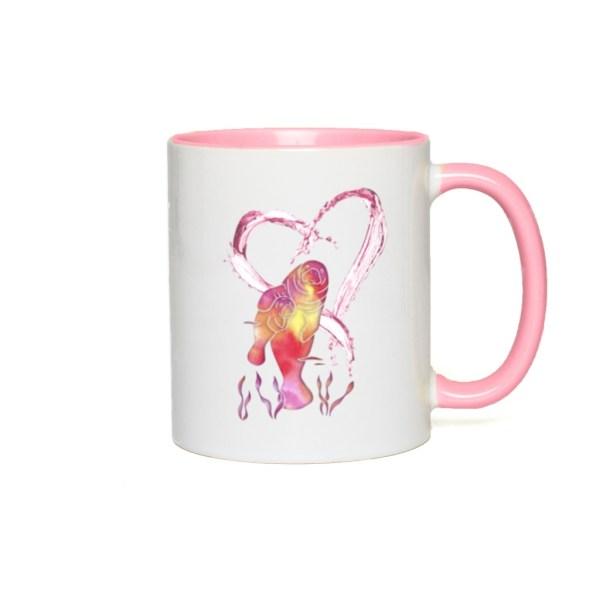 I Love Manatees Accent Mug