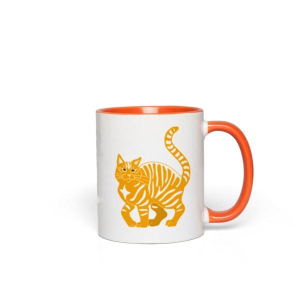 Orange Tabby Cat Accent Mug