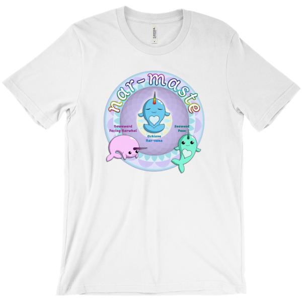 Nrwhals Doing Yoga - white