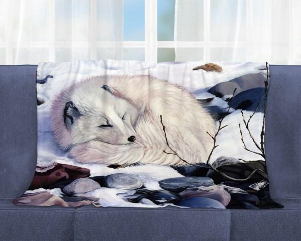 Arctic Fox Throw Blanket