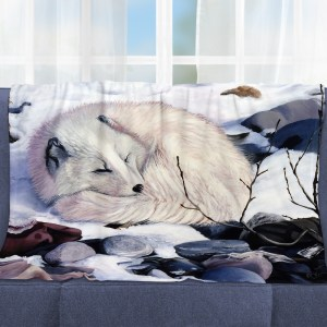 Arctic Fox Throw Blanket