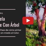 Paisaje Alegre con Acuarela