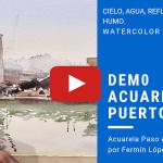 Acuarela Puerto Marítimo Video Demostración