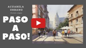 acuarela urbano Oviedo