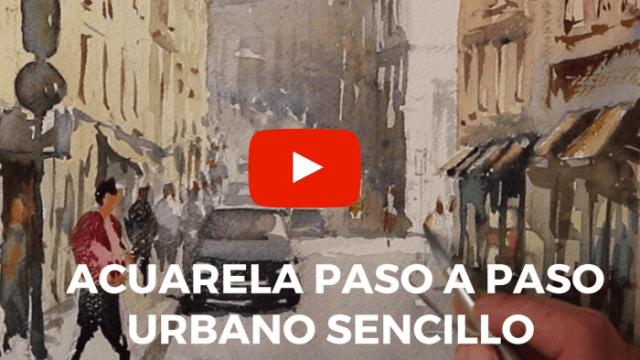 Acuarela Calle de Lisboa Video Demo