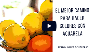 colores con acuarelas video