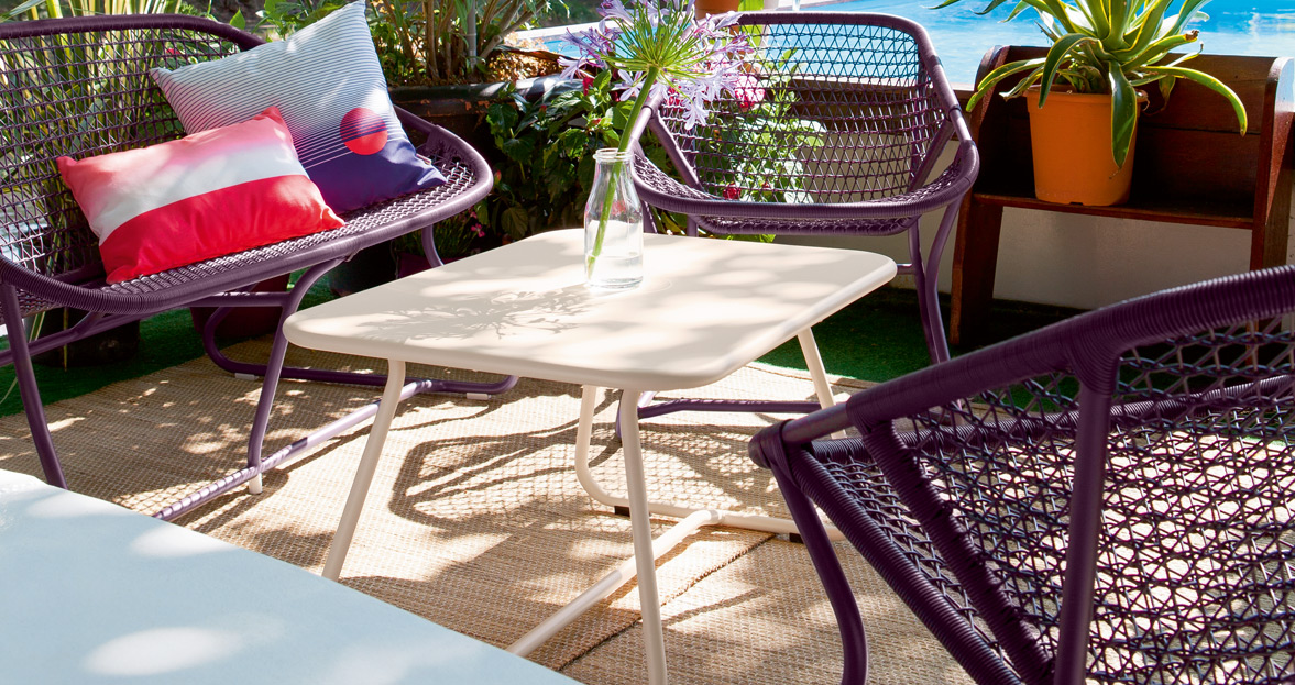Featured On The Cover Of Sunsetu0027s Outdoor Living Edition And Poolside In  The First Episode Of HBOu0027s Vinyl, Fermobu0027s Sixties Collection Adds A Cool  Vibe To ...