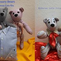 Mexicana crea 'Los Memory Bears' con ropa de víctimas de COVID