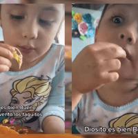 Diosito es bueno porque inventó los tacos: niña viral