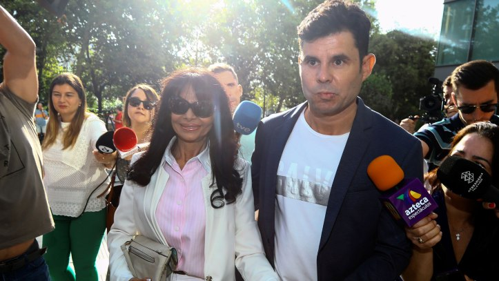 Javier Sanchez-Santos, who claims to be the son of award-winning Spaniard Julio Iglesias, arrives to appear before a court in Valencia
