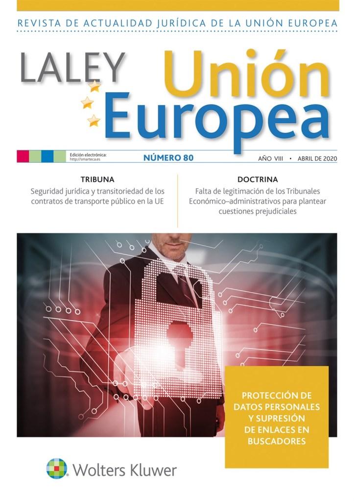 La Ley UE 80 abril 2020