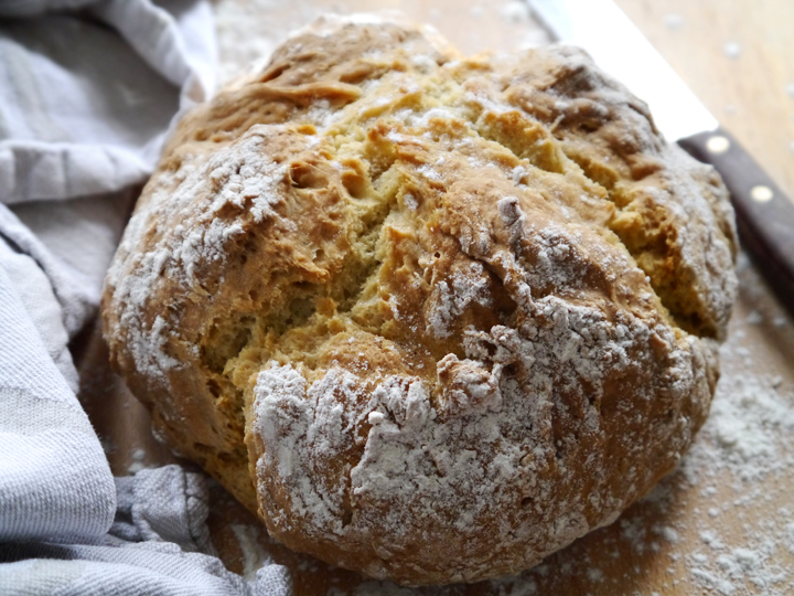White Irish soda bread