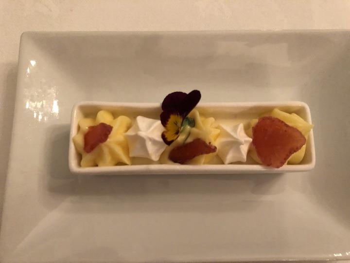 Yoghurt & cardamom cream, citrus curd, strawberries, meringue