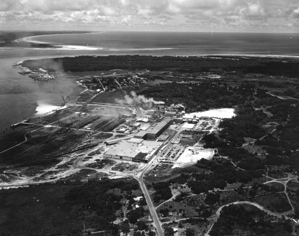 Aerial view of mill, courtesy Florida Memory Project
