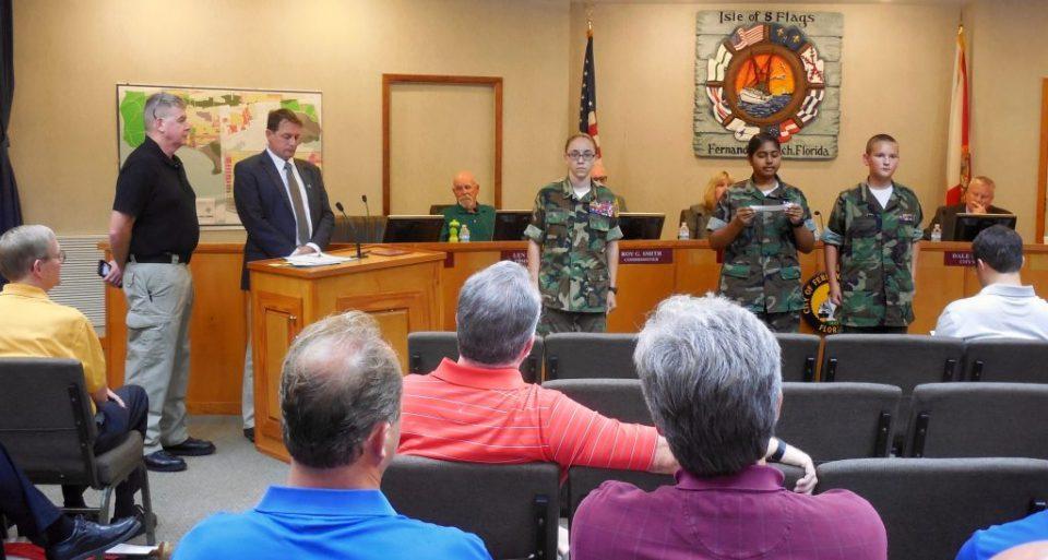 Fernandina Beach Mayor John Miller declared National Red Ribbon Week in the city.