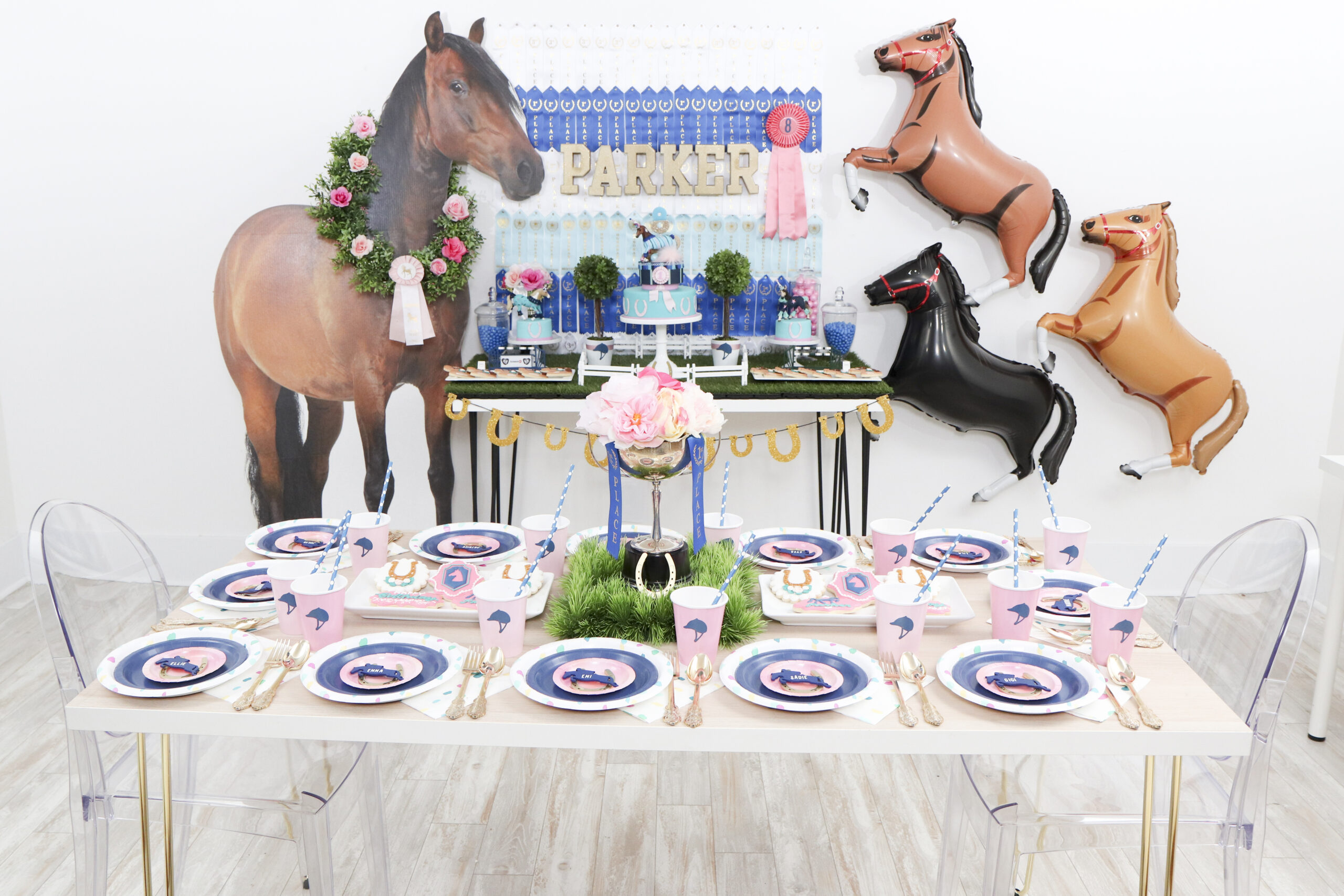 How To Style Tables For A Horse Themed Birthday Party Fern And Maple