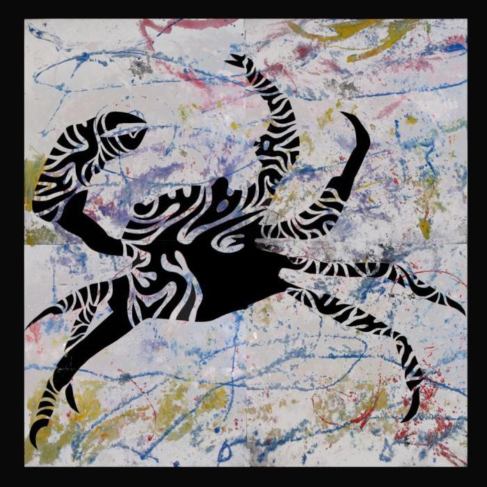 BARRILETE, 2009, mixta DM, 240 x 240 cms.