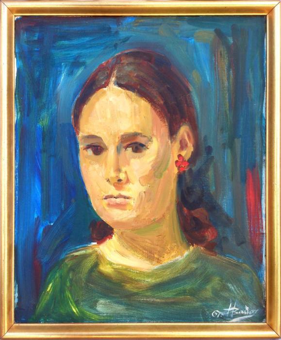 CARMEN 1967, oleo, lienzo, 41 x 49 cms.