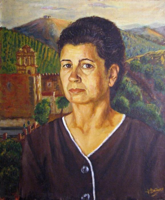 ISABEL BA_OS 1965, oleo, lienzo, 59 x 68 cms.