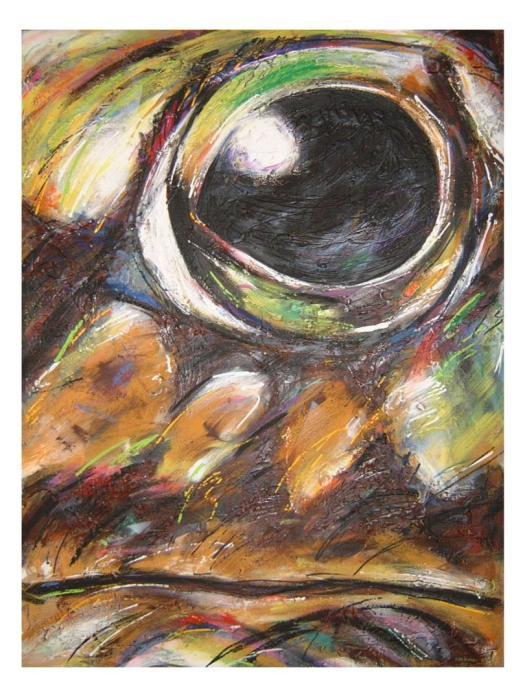 RANA 1987, mixta, lienzo, 150 x 200 cms.