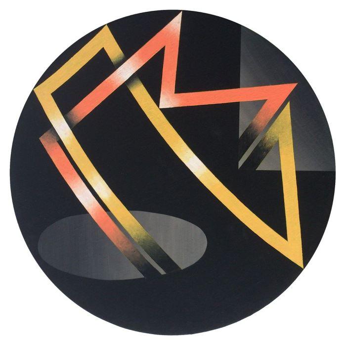 ESPECTRO 4, 2014, acrilico, lienzo, 50 cms. diametro.