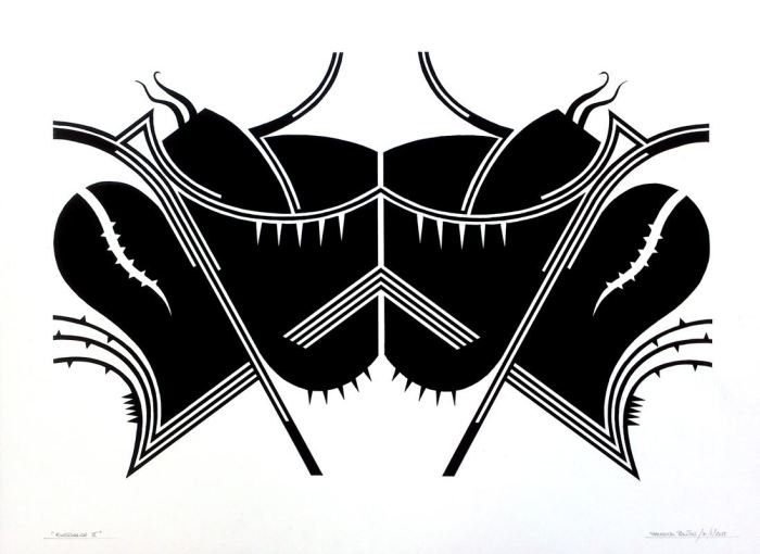 RORSCHACH II, gouache papel 70 x 50 cms