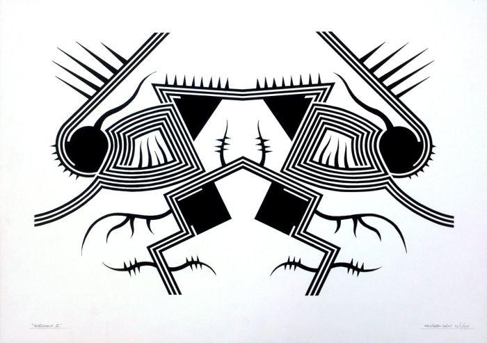 RORSCHACH III, gouache papel 70 x 50 cms